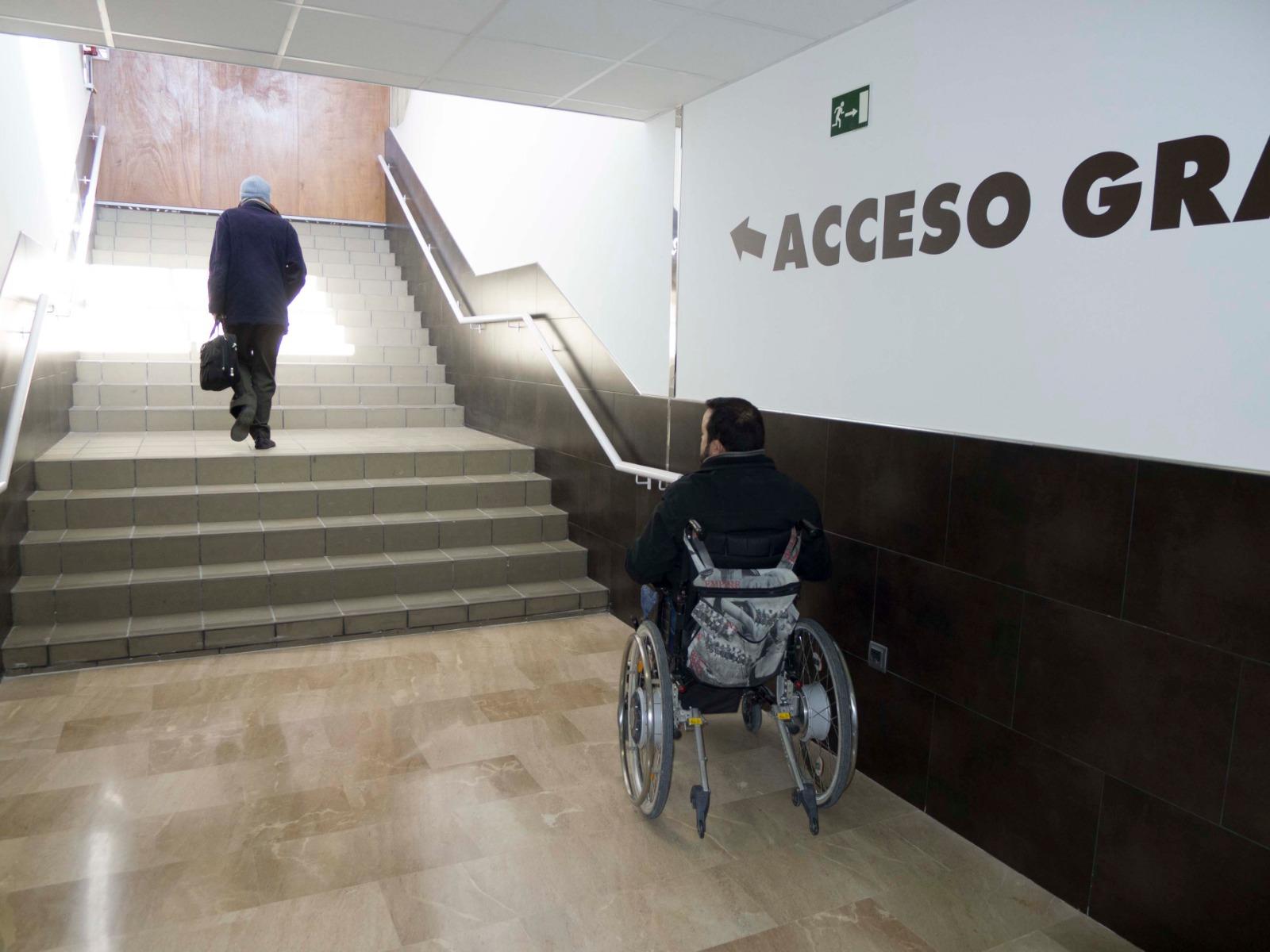 Felipe VI en Lorca sin plataforma elevadora