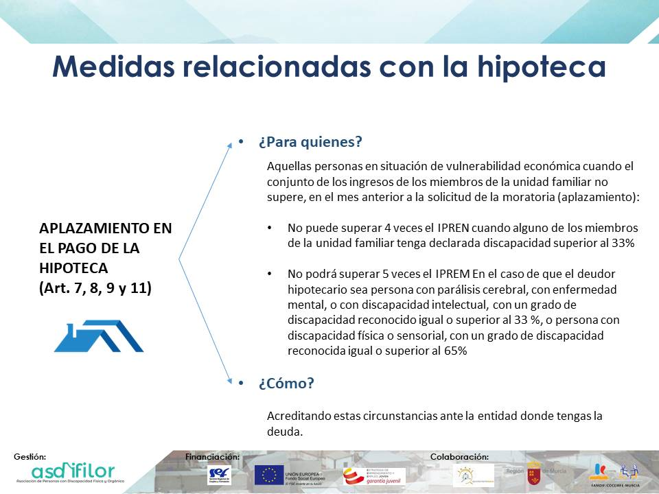 Medidas relacionadas con la hipoteca Real Decreto-ley 8/2020, de 17 de marzo