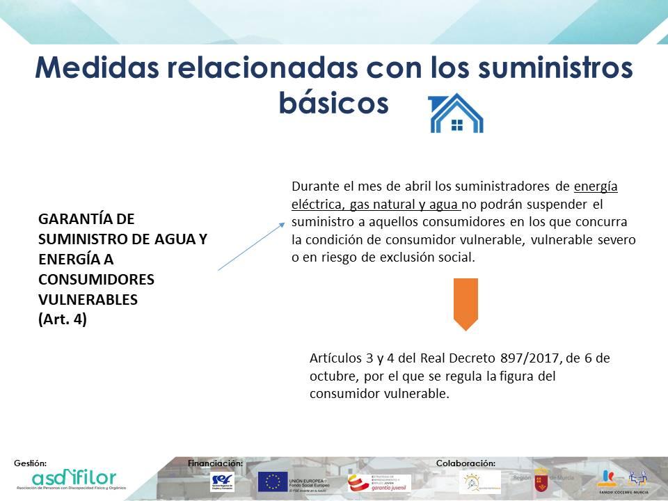 Medidas relacionadas con los suministros básicos Real Decreto-ley 8/2020, de 17 de marzo